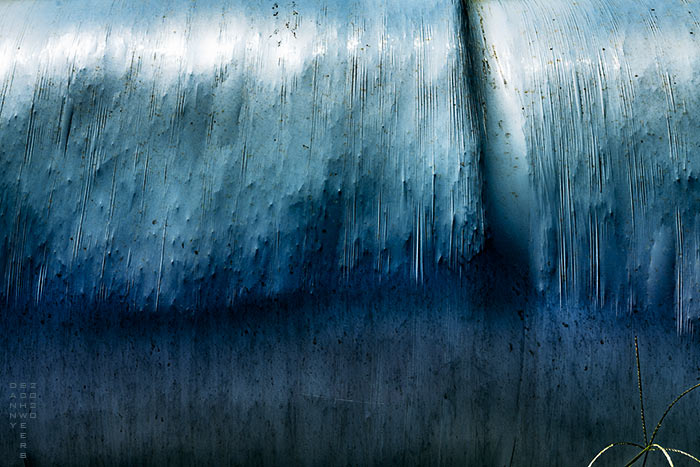 Photograph of plastic-wrapped hay bales in Lancaster County, Pennsylvania by Danny N. Schweers